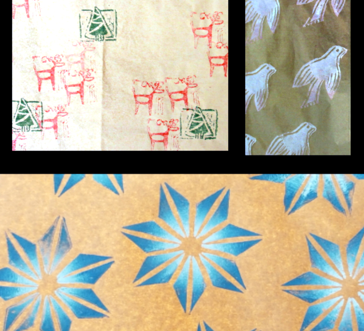 Family Workshop: Block Print Wrapping Paper