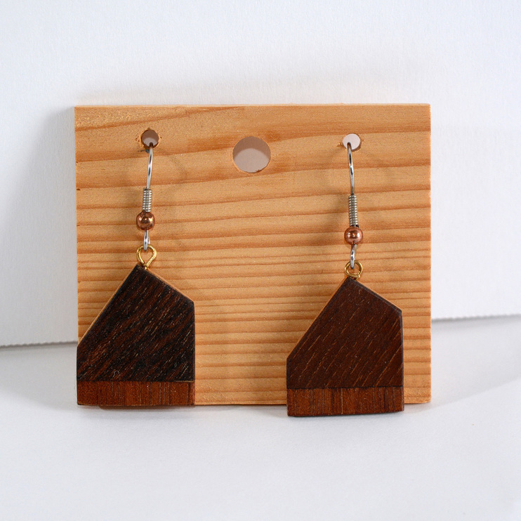 Woodwork Earrings by Matthew J Catalano