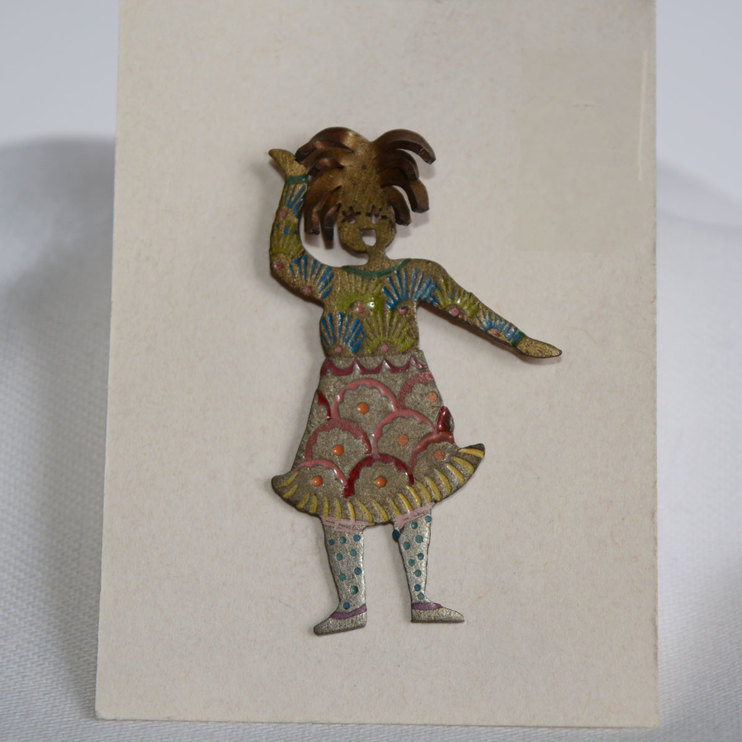 Metalwork Pin - Painted Lady