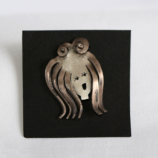 Metalwork Pin - Girl - by Catherine Butler